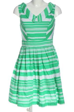 Orsay Minikleid weiß-grün Streifenmuster Casual-Look