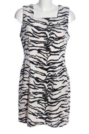 Orsay Minikleid weiß-schwarz Allover-Druck Casual-Look