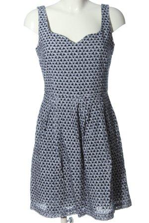 Orsay Minikleid blau-weiß Allover-Druck Casual-Look