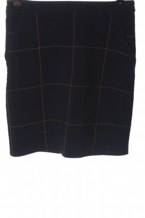Orsay Minirock schwarz-hellorange Streifenmuster Casual-Look
