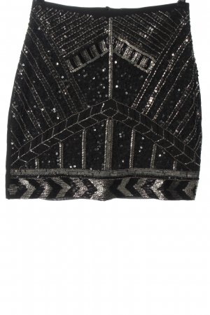 Orsay Mini rok zwart glitter-achtig