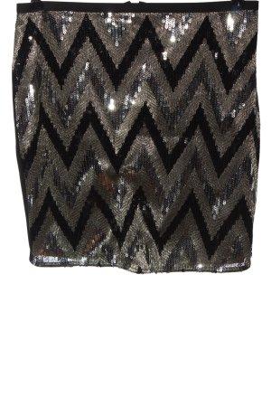 Orsay Minirock schwarz-silberfarben grafisches Muster Elegant