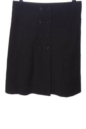 Orsay Minirock schwarz Streifenmuster Business-Look