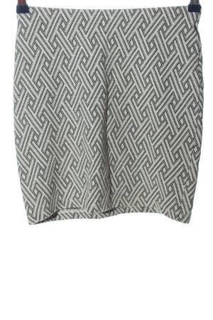 Orsay Minirock weiß-schwarz Allover-Druck Casual-Look