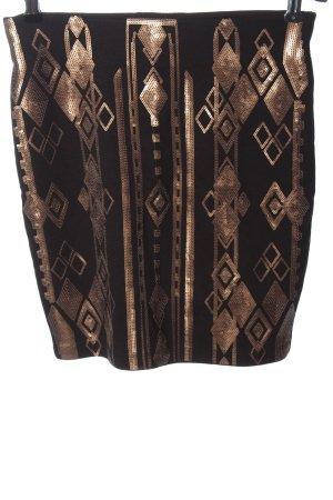 Orsay Mini rok zwart-goud grafisch patroon casual uitstraling