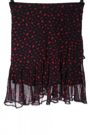 Orsay Minirock schwarz-rot Allover-Druck Casual-Look