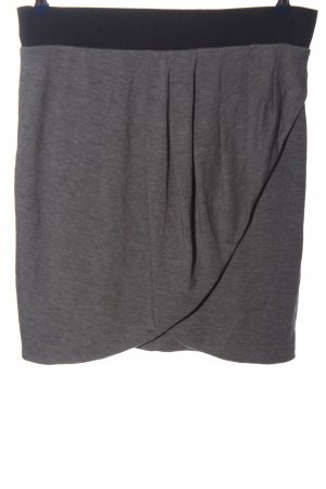 Orsay Mini rok lichtgrijs-zwart gestippeld casual uitstraling