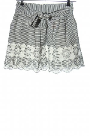 Orsay Mini rok zwart-wit gestreept patroon casual uitstraling