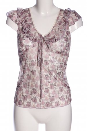 Orsay Muscleshirt roze-wolwit volledige print casual uitstraling