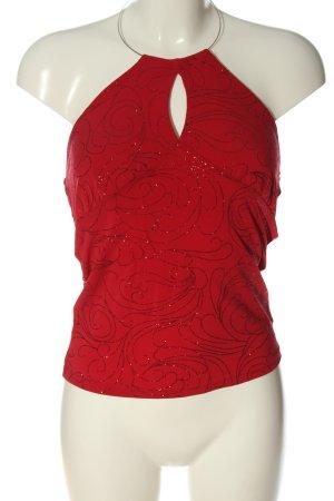 Orsay Haltertop rood Patroon-mengeling casual uitstraling