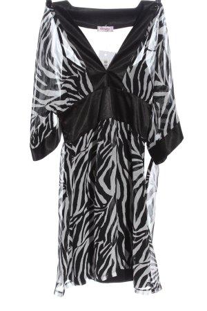 Orsay Blusenkleid schwarz-weiß Animalmuster Elegant