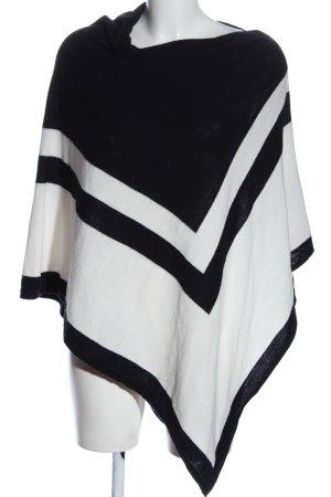 Orsay Poncho blanco-negro look casual