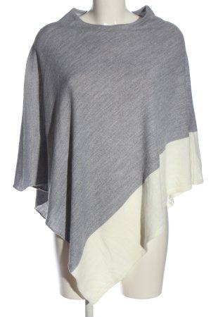 Orsay Poncho gris claro-blanco puro moteado look casual