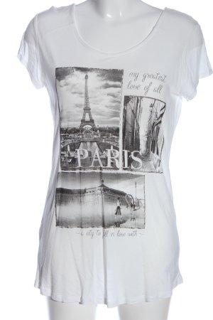 Orsay Print-Shirt weiß-hellgrau Motivdruck Casual-Look