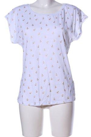 Orsay Shirt met print wit-goud volledige print casual uitstraling