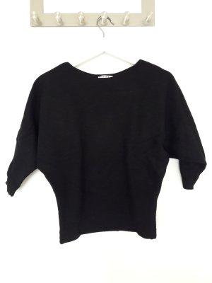 Orsay Pullover mit Fledermausärmeln, schwarz