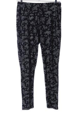 Orsay Pumphose schwarz-weiß Blumenmuster Casual-Look