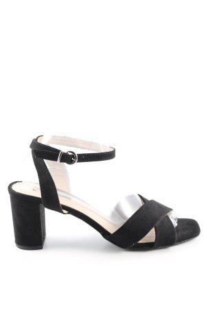 Orsay Riemchen-Sandaletten schwarz Business-Look