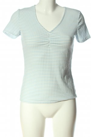 Orsay Ribbed Shirt white-blue allover print casual look