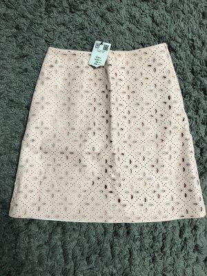 Orsay Falda de cuero de imitación rosa