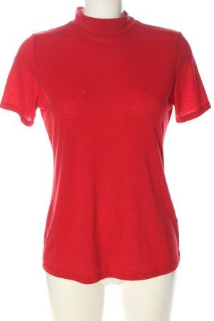 Orsay Camisa de cuello de tortuga rojo look casual