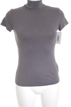Orsay Koszulka z golfem szary Tkanina z mieszanych włókien