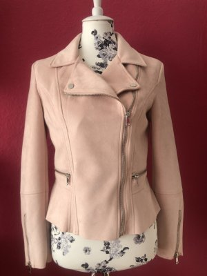 Orsay Faux Leather Jacket light pink polyester