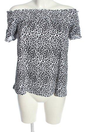 Orsay Schlupf-Bluse schwarz-weiß Animalmuster Casual-Look