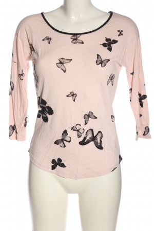 Orsay Longsleeve pink-schwarz Allover-Druck Casual-Look