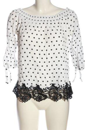 Orsay Schlupf-Bluse weiß-schwarz Allover-Druck Casual-Look