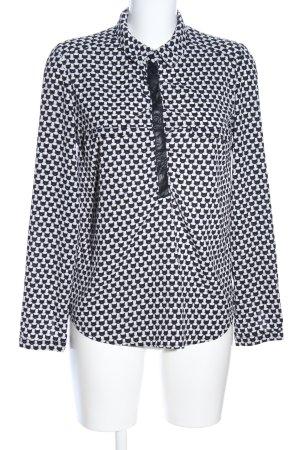 Orsay Schlupf-Bluse schwarz-weiß Allover-Druck Casual-Look