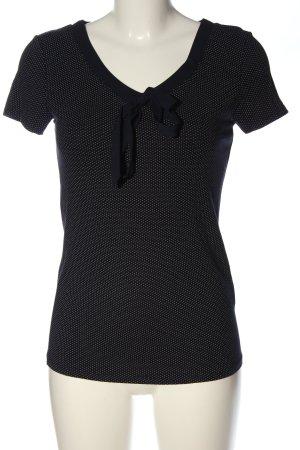 Orsay Blouse avec noeuds noir-blanc motif de tache élégant