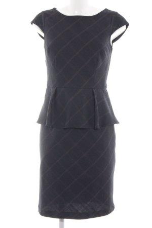 Orsay Peplum jurk zwart-room geruite print zakelijke stijl