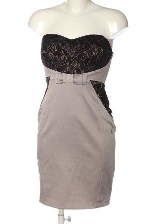 Orsay schulterfreies Kleid hellgrau-schwarz Elegant