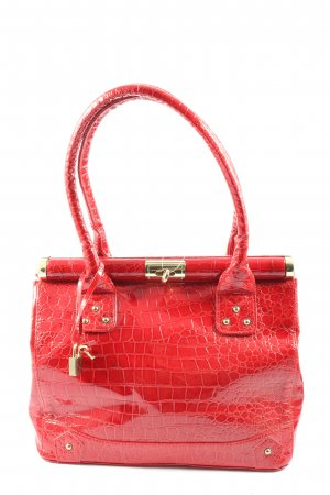 Orsay Schultertasche rot Animalmuster Casual-Look