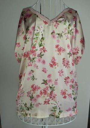 Orsay Shirt Bluse mit Blumen und Glitzer Gr.44/46