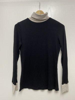 Orsay Maglia a collo alto nero-bianco sporco