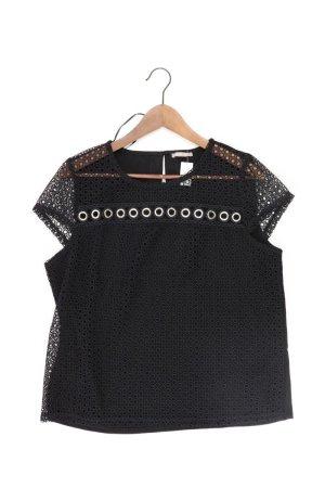 Orsay Shirt mit Spitze Größe L Kurzarm mit Nieten schwarz aus Viskose