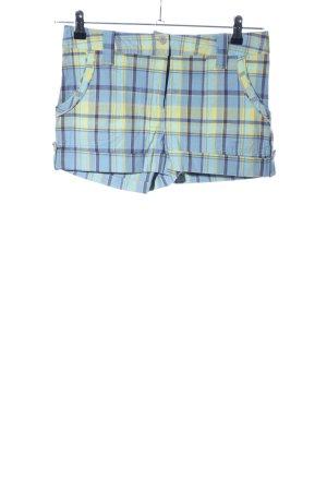 Orsay Shorts blau-blassgelb Karomuster Casual-Look