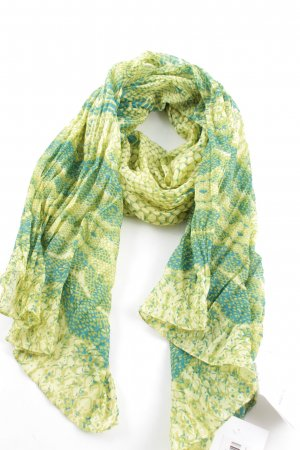 Orsay Sommerschal grün abstraktes Muster Casual-Look