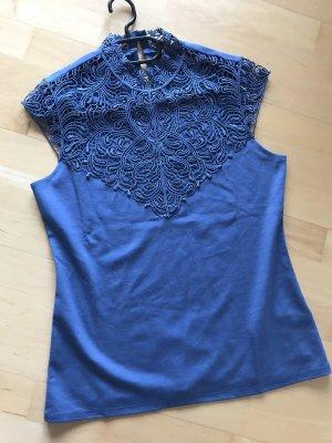Orsay spitzen top taubenblau Gr  L