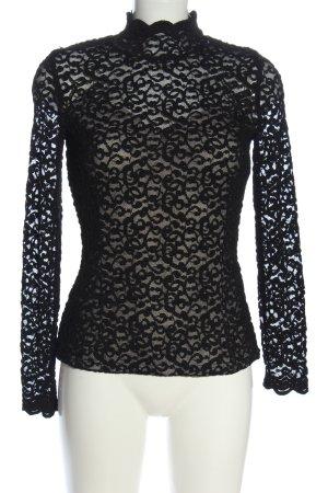 Orsay Spitzenbluse schwarz Webmuster Casual-Look