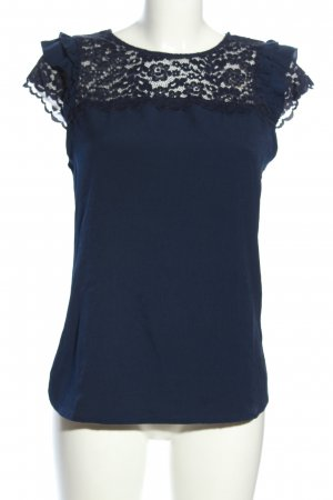 Orsay Lace Blouse blue business style