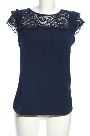 Orsay Spitzenbluse blau Casual-Look