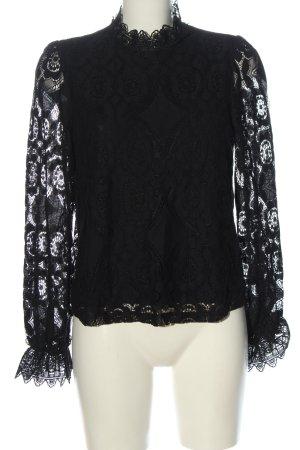 Orsay Koronkowa bluzka czarny W stylu casual