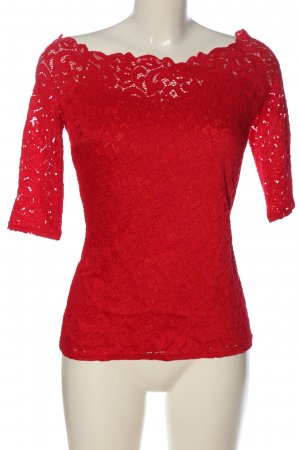 Orsay Spitzenbluse rot Casual-Look