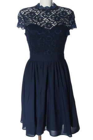 Orsay Spitzenkleid blau Blumenmuster Casual-Look