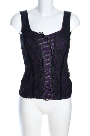 Orsay Top di merletto nero-lilla stile casual