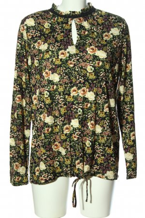 Orsay Stand-Up Collar Blouse flower pattern casual look