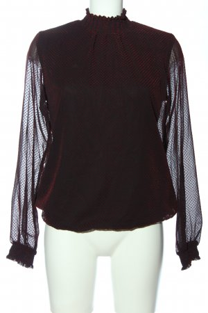 Orsay Stand-Up Collar Blouse black-red transparent look